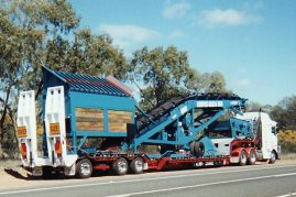Screening plant from Brisbane to Bunbury WA 17 metres long