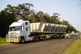 Section of a coal loading bin from Kempsey to Newcastle 5.7 metres wide 16 metres long and weighing 62 tonne